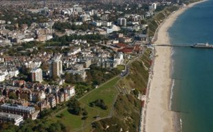 Blue flag beaches of Bournemouth